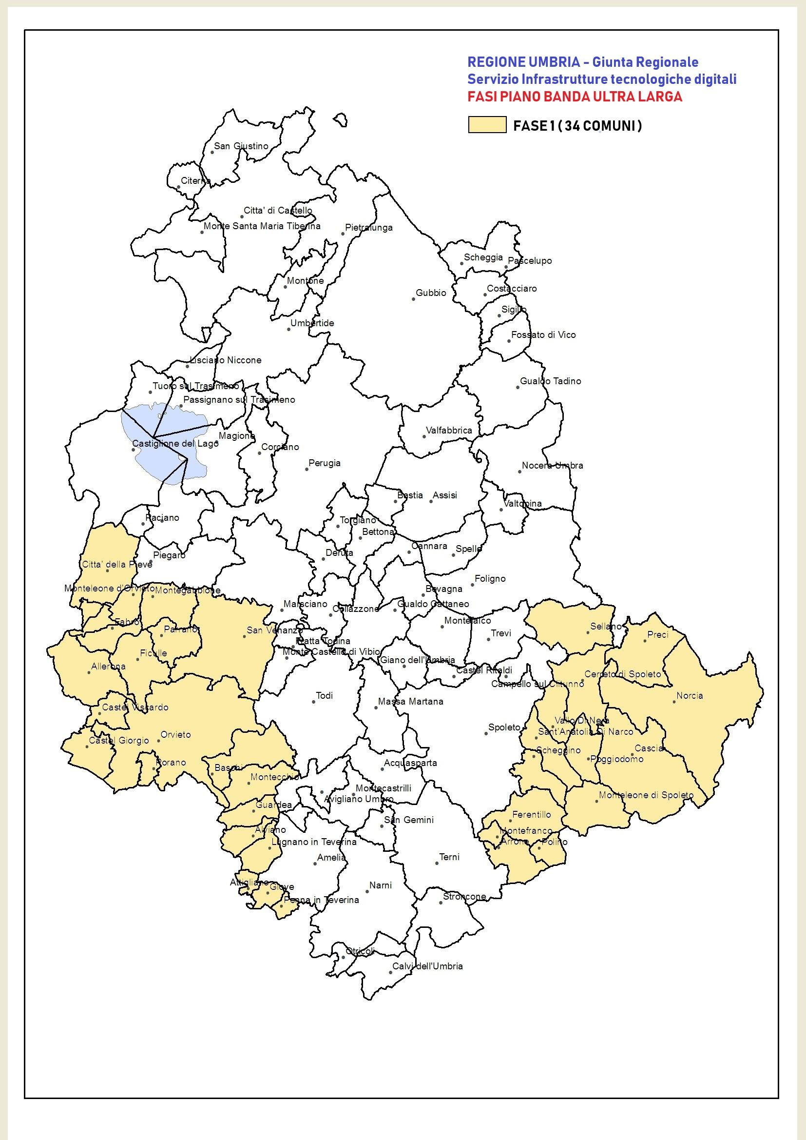 Cartina Dell Umbria Con Tutti I Comuni.Piano Nazionale Banda Ultra Larga Bul Regione Umbria