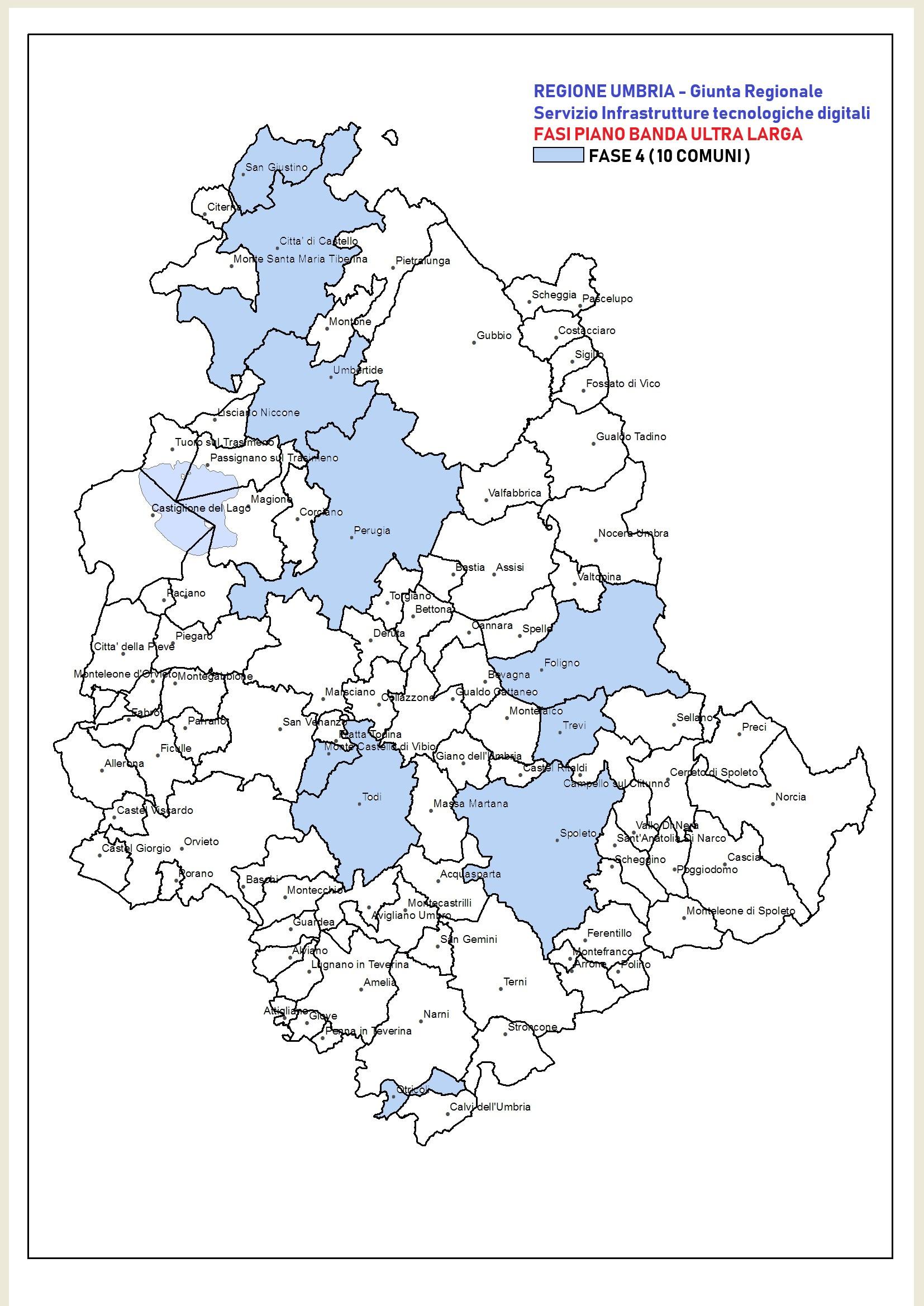 Cartina Comuni Umbria.Piano Nazionale Banda Ultra Larga Bul Regione Umbria