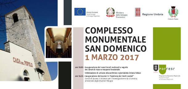 Inaugurazione Complesso di San Domenico a Narni 1^ marzo  2017